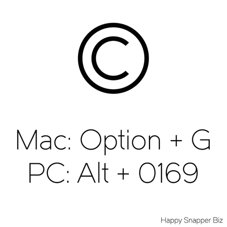 Quick Tip How To Input A Copyright Symbol On Pc Mac Happy